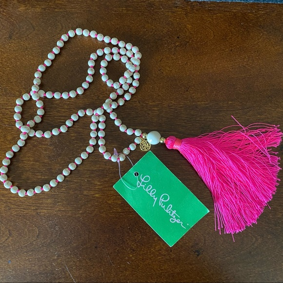 Lilly Pulitzer Beaded Tassel Necklace